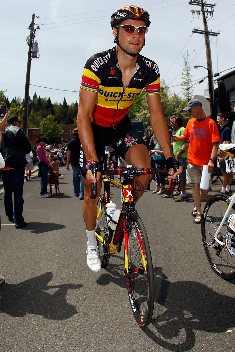 Tom Boonen, voor de start van de eerste etappe van de Ronde van Californië. Beeld UNKNOWN