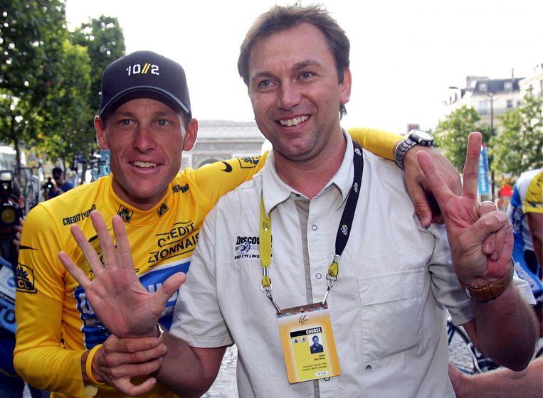 'Waarom wij er, in tegenstelling tot anderen, niet mee zijn weggekomen? Lance heeft zeven keer de Tour gewonnen: dat is te veel. En onze arrogantie heeft ook niet geholpen.' Beeld Belgaimage