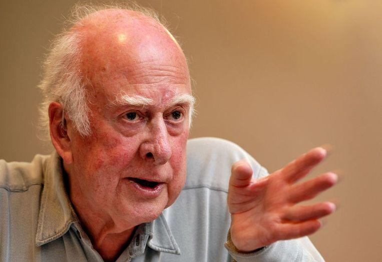 Wetenschapper Peter Higgs Beeld afp