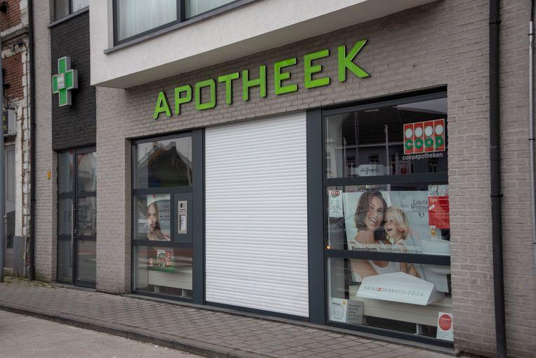 Apotheek Vooruit in Wetteren kreeg ongewenst bezoek.
