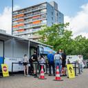 De prikbus, zoals die vorige week in de Hoge Vucht in Breda stond.
