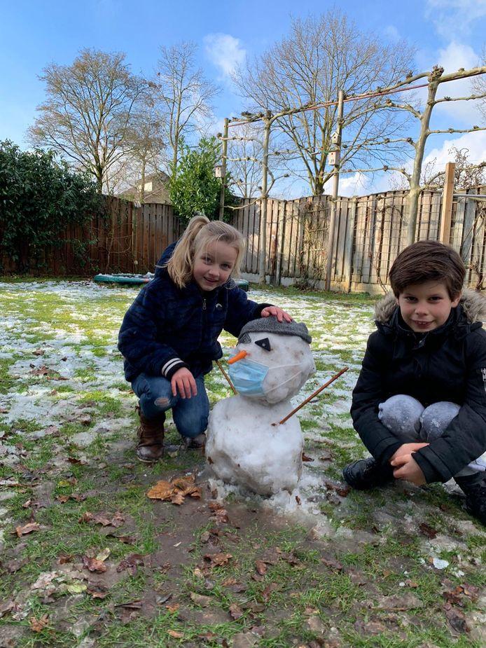 Alle sneeuw in de coronaproof sneeuwpop !