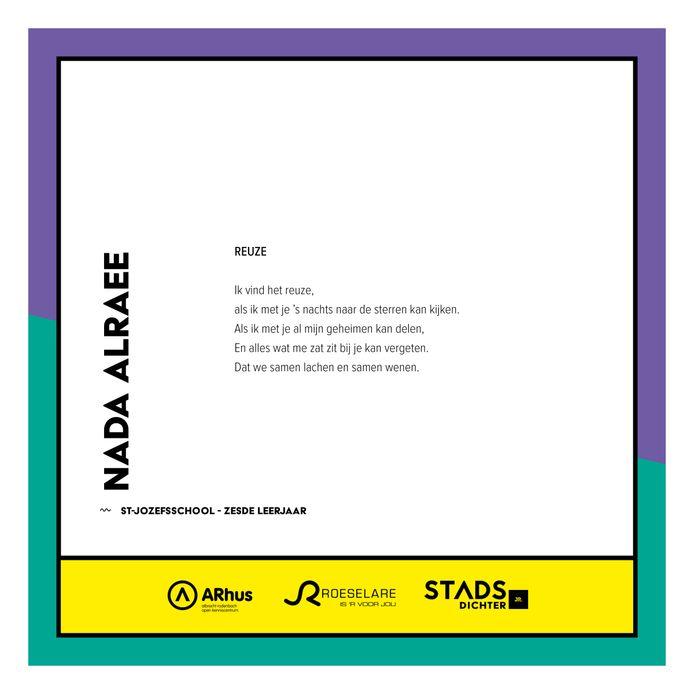 Het gedicht van Nada Alraee