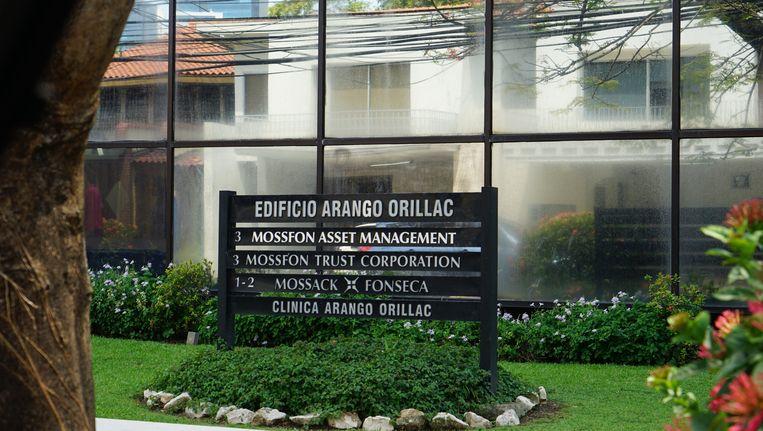 De gevel van het kantoor van Mossack Fonseca. Beeld Photo News