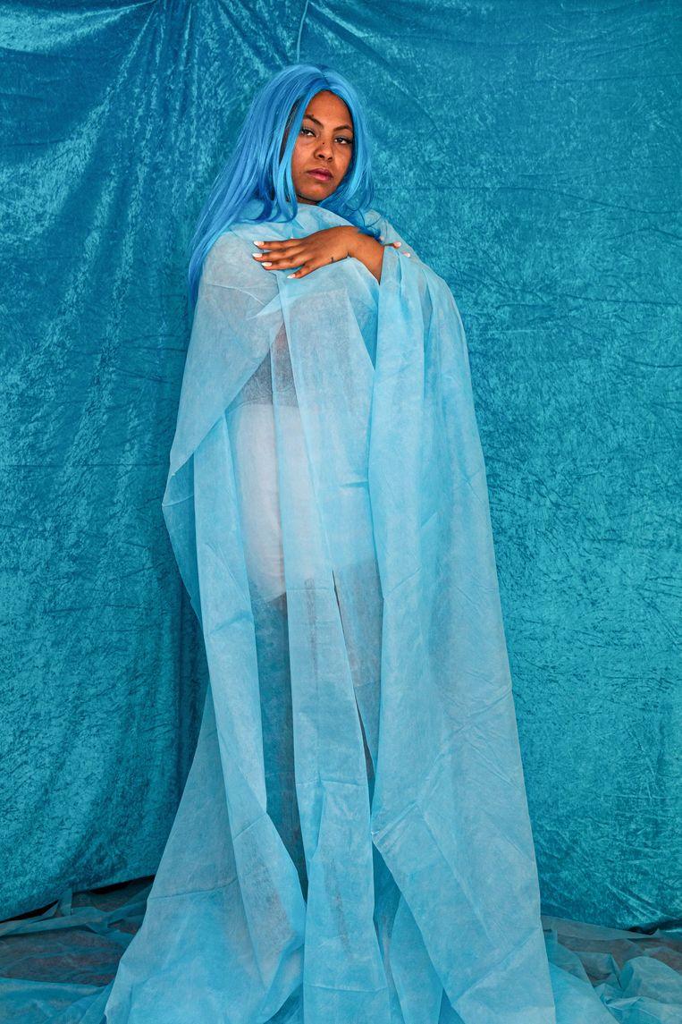 Meron (22) is fan van Beyoncé. Denkt ze aan haar thuisland Eritrea dan ziet ze de kleur geel en mist ze haar moeder. Beeld Cigdem Yuksel