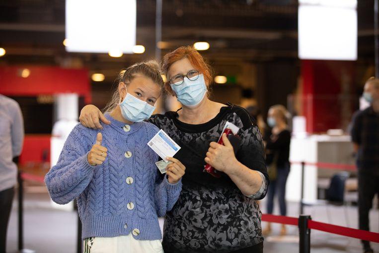 Beeld uit het vaccinatiecentrum in Hasselt. Beeld Mine Dalemans