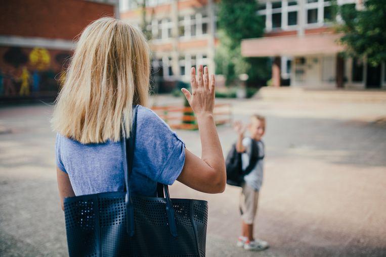 Eerste schooldag.
