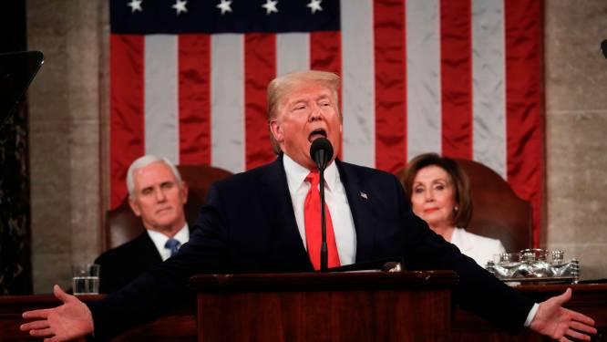 """Trump houdt State of The Union: """"De jaren van economisch verval zijn voorbij"""""""