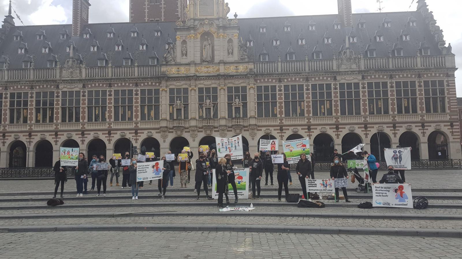 Kinderopvangsector pleit voor erkenning in Leuven.