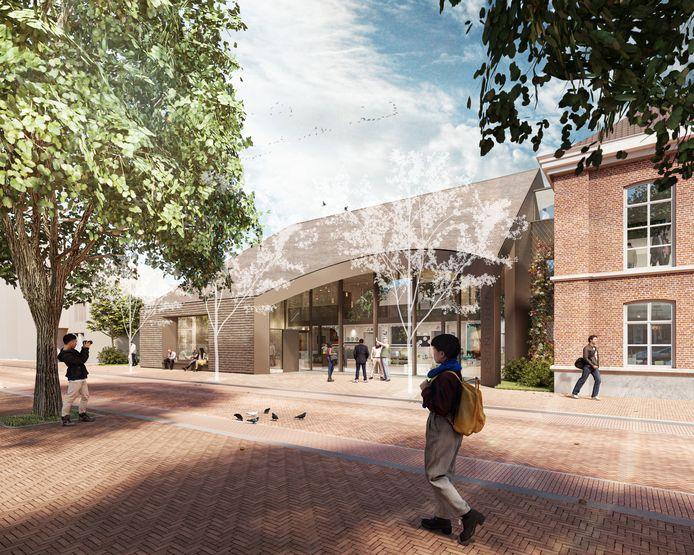 Zo gaat de uitbreiding van museum Vincentre in Nuenen eruit zien. Rechts is het bestaande deel te zien. In 2023 moet de uitbreiding klaar zijn.