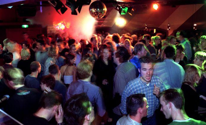 De Bredase discotheek Liquid in zijn hoogtijdagen.