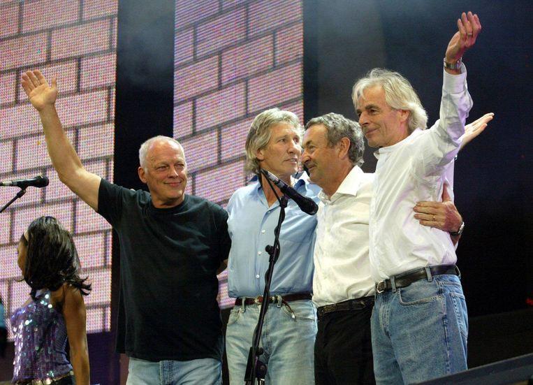Een reünie van Pink Floyd voor het Live 8-concert in Londen in 2005. Beeld EPA