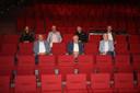 De Diksmuidse schepenen samen met Tom Durie en Werner Decoutere