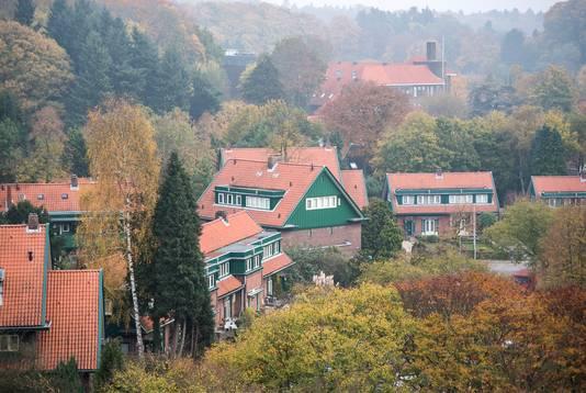 Huizen van de Woningbouwvereniging voor Ambtenaren te Arnhem op de Braamberg.