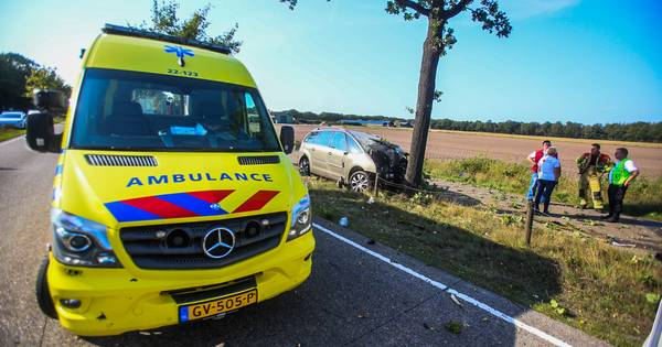 Man overleden na botsing tegen een boom op de N270 bij Helmond.