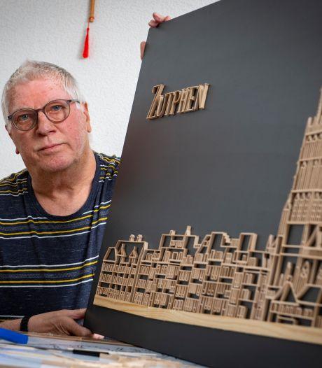 Roerstaafjesman Bert uit Zutphen is nog lang niet klaar met zijn kunstwerken: 'Ik ben altijd al een priegelaar geweest'