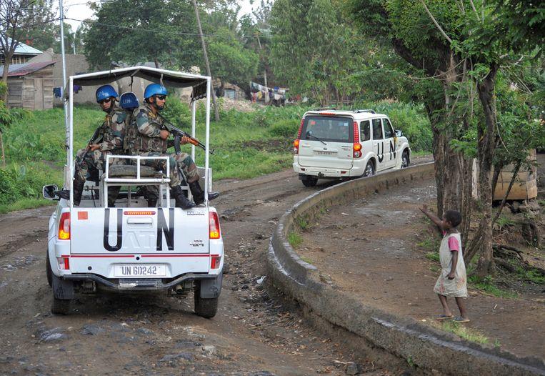 VN-soldaten in Congo, in 2018.  Beeld REUTERS