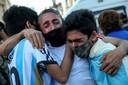 Tranen bij de fans van Maradona