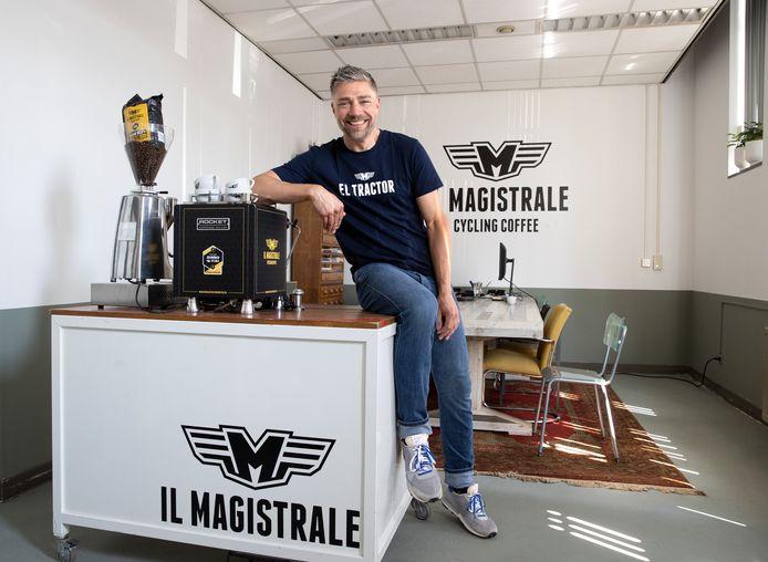 Bas van den Heuvel van Il Magistrale Cycling Coffee.
