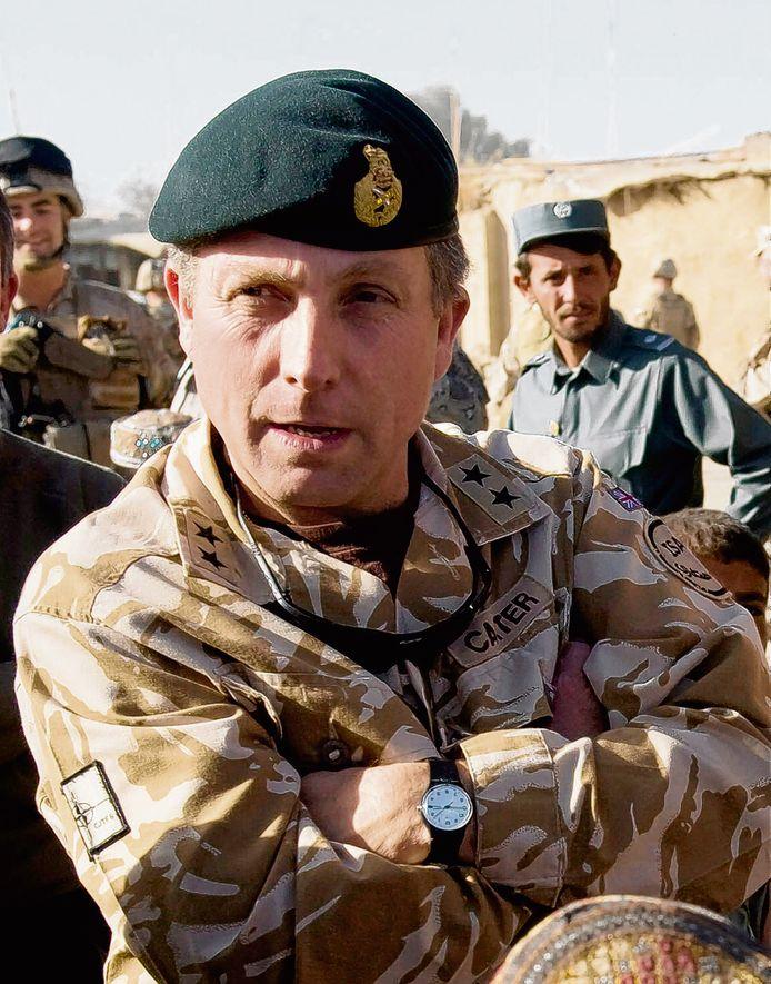 Generaal Nick Carter op missie in Afghanistan in 2009.