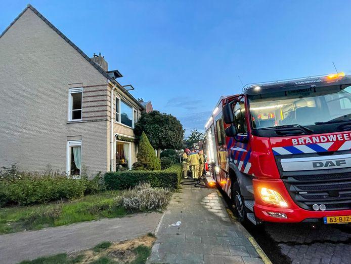 De brandweer rukte uit voor een woningbrand in Lieshout.