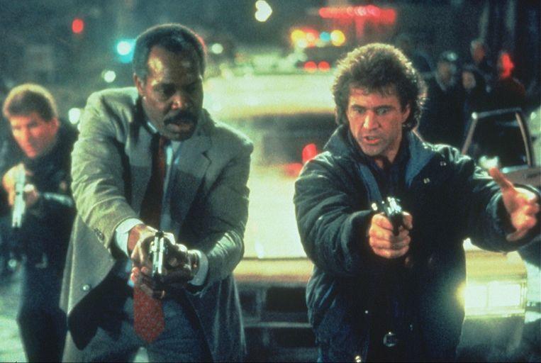 Danny Glover (links) en Mel Gibson in Lethal Weapon 2.  Fee Payable to Kippa ALLEEN VOOR REDACTIONEEL GEBRUIK. Beeld ANP Kippa