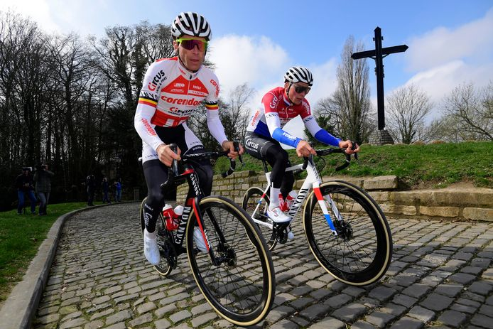 Devolder met Mathieu van der Poel.