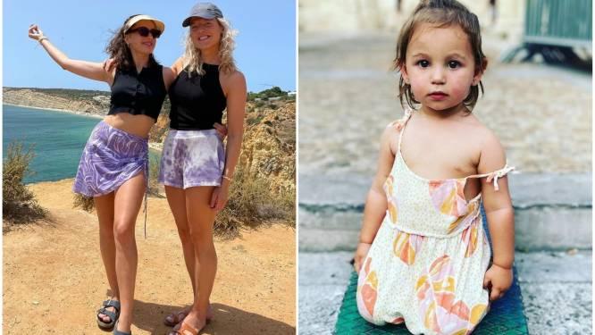 SHOWBITS. Ella en Olga Leyers dragen matching outfits en van welke acteur is dit schattige dochtertje?