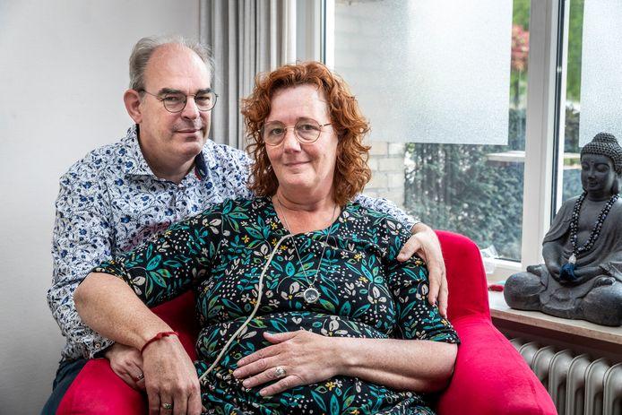 Marinet Antonides-Frishert, samen met haar man Wouter.