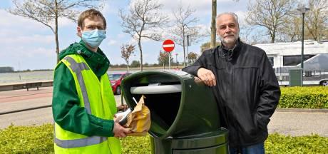 Nieuwe vogelproof afvalbakken moeten einde maken aan rondzwervend afval op de Bergse Plaat