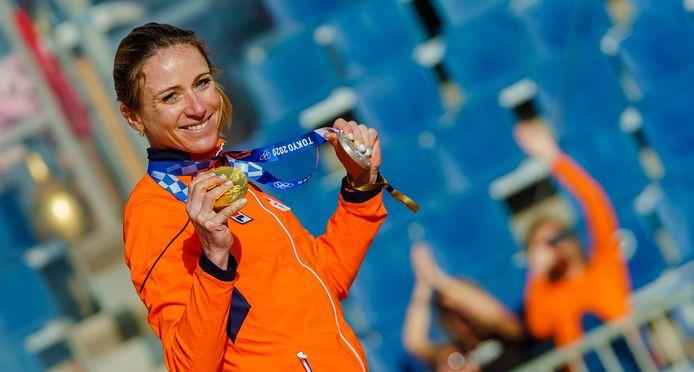 Van Vleuten won een gouden medaille tijdens de Olympische Spelen in Tokio.