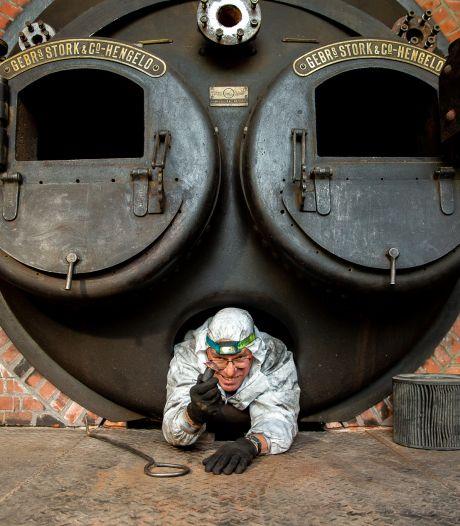 Hoe de mannen van ijzer en staal klinknagels uit een stoomketel boren: 'Het blijkt toch wel een k-klus'