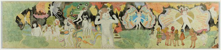 Henry Darger, Zonder titel, ca. 1940/1960. Beeld Henry Darger, The Museum of Everything