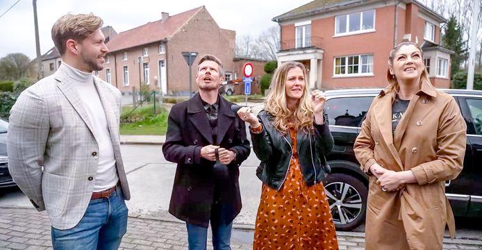 Arjen Spittael, Hans Peeters, Mariska Blommaert en Kelly Pfaff in de komende aflevering van 'Waar voor je Geld?' in VTM 2.