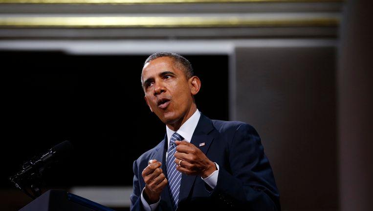 De Amerikaanse president Barack Obama Beeld REUTERS