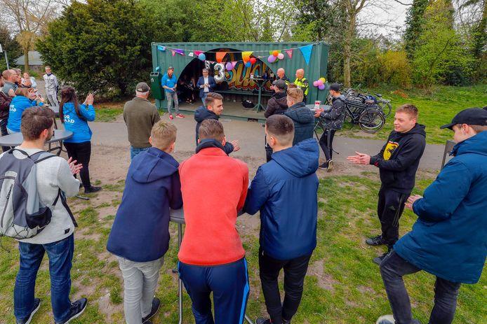 Heropening van de hangplek voor jongeren in Budel, dit voorjaar.