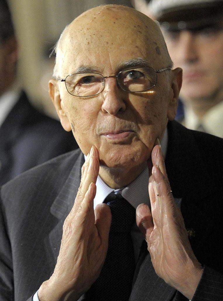 President van Italië Giorgio Napolitano Beeld epa