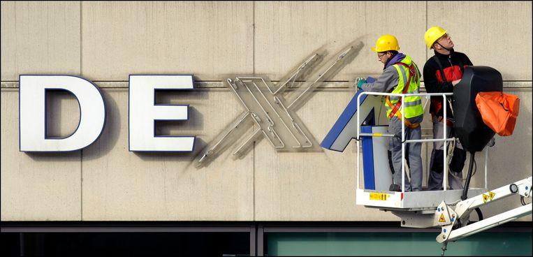 De 'bank in afbouw' Dexia loopt via zijn Italiaanse dochter een serieus risico . Beeld Photo News