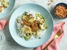 Wat Eten We Vandaag: Kabeljauw met korianderchutney en kokosrijst