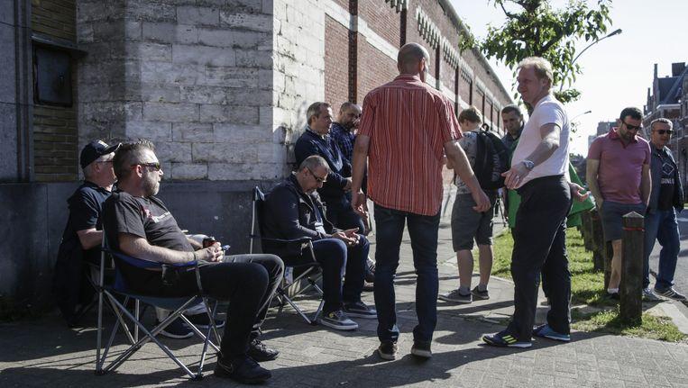 Stakend gevangenispersoneel in Brussel Beeld belga