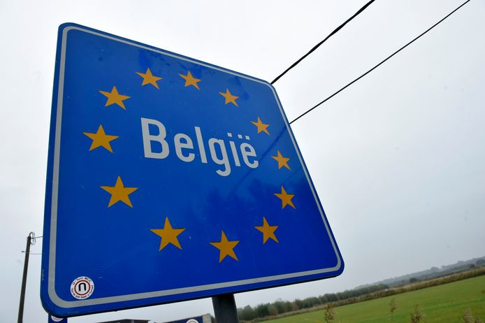 De grens van België.