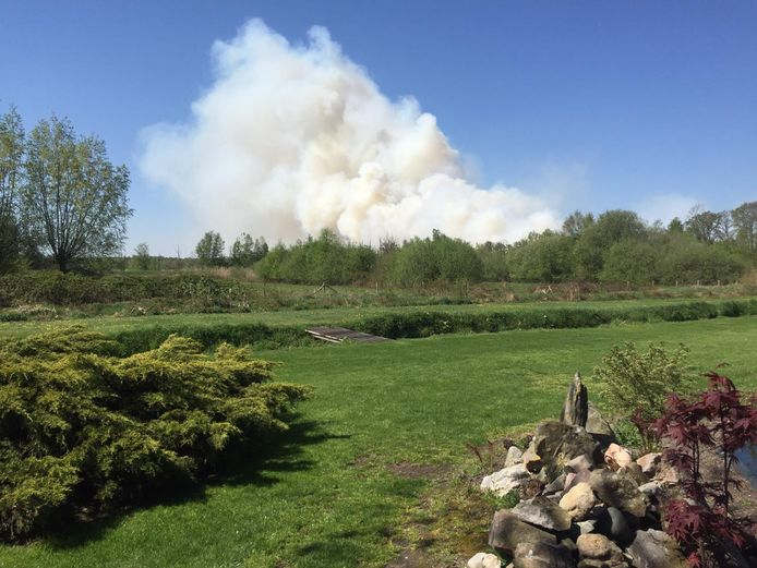 Grote natuurbrand in Deurnsche Peel.