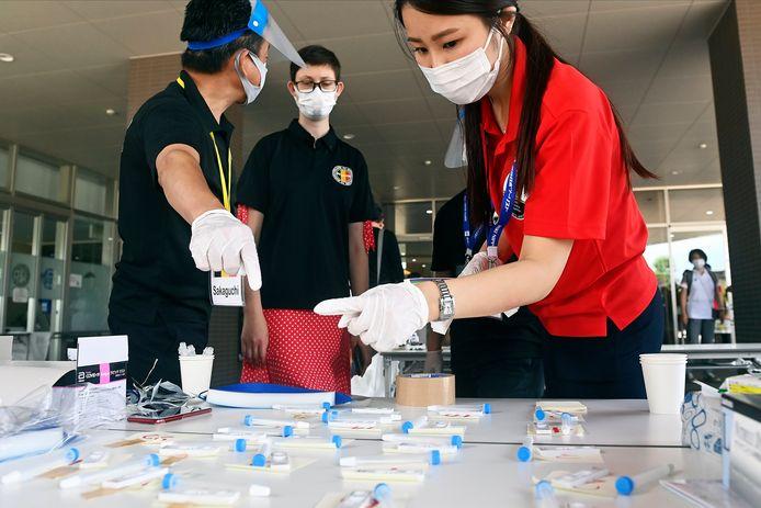 Tests PCR vérifiés vendredi à Mito, au Japon