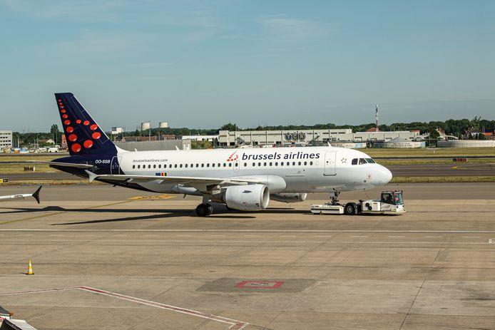 Illustratiebeeld vliegtuig Brussels Airlines.