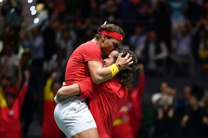 Rafael Nadal en Feliciano Lopez.
