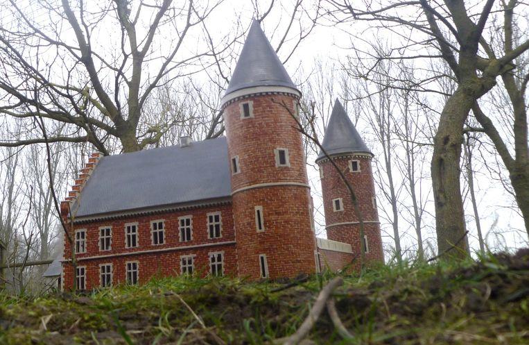 De maquette van het kasteel De Borcht.