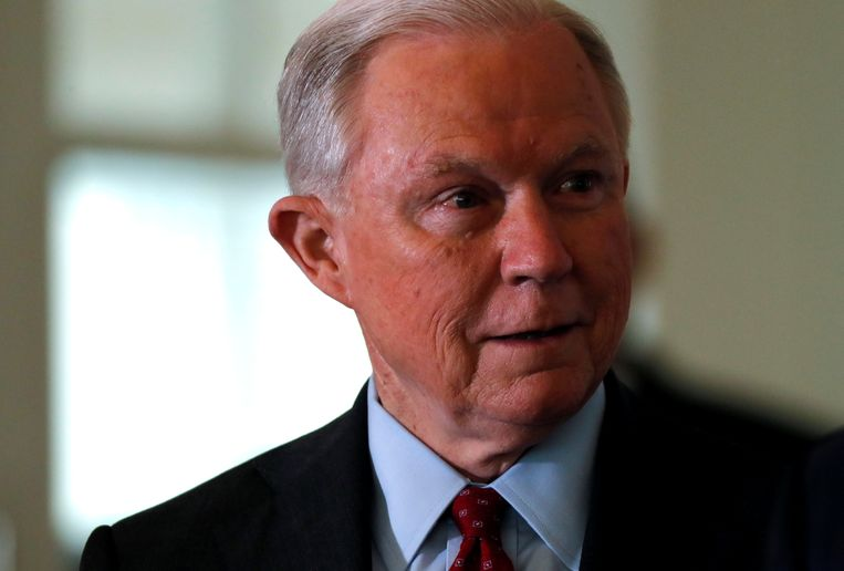 Minister van Justitie Jeff Sessions.