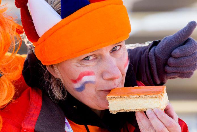De oranje tompouce is erg populair op Koningsdag. Foto uit 2020.