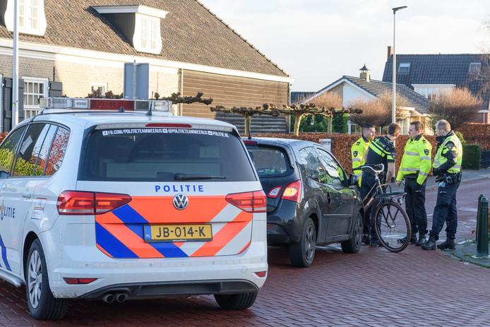 Ongeluk op de Lange Brugstraat in Etten-Leur.