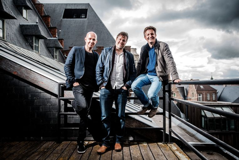 Steven Heene, Milo Rau en Stephan Bläske, het nieuwe artistiek leiderschap van NTGent  Beeld Jonas Lampens